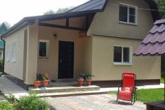 Дачный дом снт Лесная поляна утепление отделка фасада