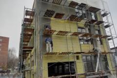 г. Пенза ул. Захарова 20Г утепление фасада торгового здания в Пензе минеральной ватой