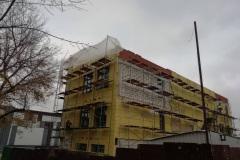 г. Пенза ул. Захарова 20Г утепление фасада торгового здания в Пензе мин. ватой