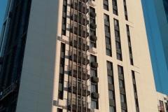 Вен фасад из фиброцементной плиты с элементами мокрого фасада